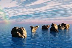 Roches et mer Photographie stock libre de droits