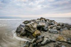 Roches et mer Image libre de droits
