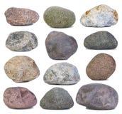 Roches et pierres d'isolement sur le blanc Photo stock