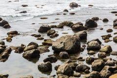 Roches et rochers au point Loma Tide Pools photo libre de droits