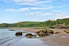 Roches la baie, à Dumfries et le Galloway de Killantringan Images stock