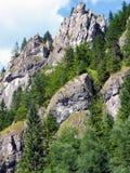 Roches massives en vallée de Vratna, Slovaquie Images libres de droits