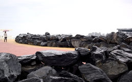 Roches naturelles d'ardoise Image libre de droits