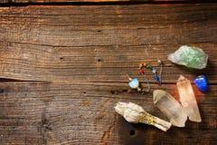 Roches naturelles et sauge blanche image libre de droits