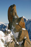 Roches près de Mont Blanc Photographie stock