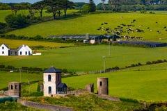 Roches Punkt-Ruinen, Abhang-Ansicht Cork Ireland lizenzfreie stockbilder