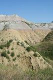 Roches réunies colorées, stationnement de Nat'l de bad-lands Photo libre de droits