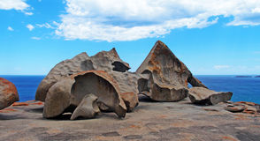 Roches remarquables, île de kangourou Images stock