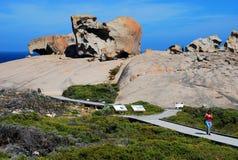 Roches remarquables, parc national de chasse de Flinders Île de kangourou, Australie du sud Images stock