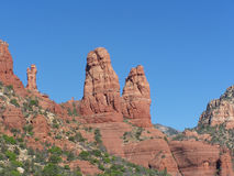 Roches rouges de Sedona Photos stock