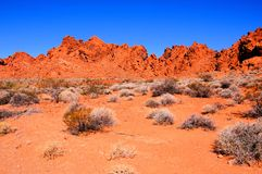 Roches rouges du Nevada Photo stock