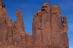 Roches rouges en vallée de monument, Etats-Unis photographie stock