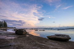 Roches sur Helyy à l'aube Photo libre de droits