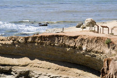 Roches sur l'horizontal de Point Loma photographie stock