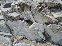 Roches sur la plage du Maine photographie stock