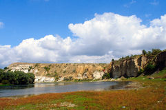 Roches sur la rivière Photo stock