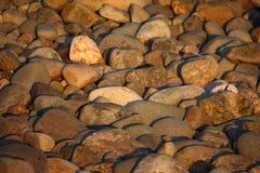 Roches sur une plage Photos stock