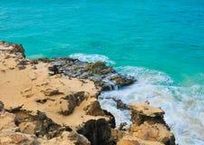 Roches volcaniques au Cap Vert, Afrique Photographie stock libre de droits