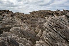 Roches volcaniques de paysage d'île de kangourou de baie de Vivonne sur la mer Photographie stock