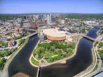 Rochester är en Major City i sydostliga Minnesota som centreras runt om hälsovård royaltyfri bild