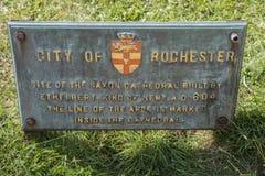 Rochester anglosaxaredomkyrka Arkivbild