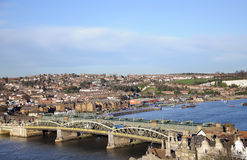 Rochester Bridge. The River crossing at Rochester over the River Medway in Kent England Stock Photos