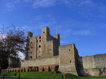 Rochester Castle. The Norman (11th century) castle in Rochester, Kent, south-east England. It is an excellent example of a Norman castle, with a very well Stock Image