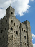 Rochester castle 2. Rochester castle keep looking from three quarter view Stock Images