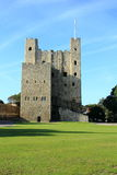 Rochester Castle. Back view of Rochester castle near the river Medway in Kent, England Royalty Free Stock Photos