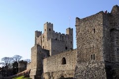Rochester Castle. On the Banks of the river Medway in Kent ENGLAND Royalty Free Stock Photography