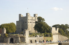 Rochester Castle. On top of the hill Stock Photo