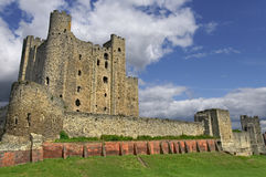 Rochester Castle. Since 1127 the Norman Rochester Castle towers over the river Medway Royalty Free Stock Photography