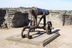 Rochester Castle artillery in England Stock Photo