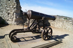Rochester Castle artillery in England Royalty Free Stock Image