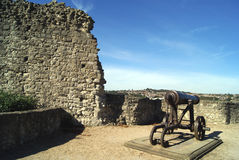 Rochester Castle artillery in England Royalty Free Stock Photography