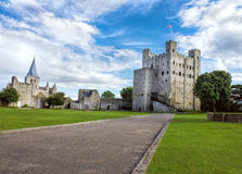 Rochester Castle and Cathedral, England royalty free stock photo