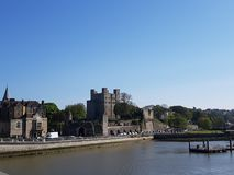 Rochester Castle at Rochester, England, UK. Rochester  in england, uk. countryside, , , sightseeing stock photos
