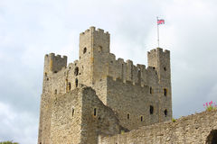 Rochester Castle. The keep of Rochester Castle, Kent, England Stock Photo