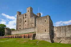 Rochester Castle 12th-century. Castle and ruins of fortifications. Kent, South East England. Royalty Free Stock Photo
