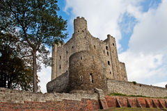 Rochester castle upwards Stock Photography