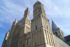 Rochester domkyrkadetaljer, England Arkivbild