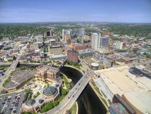 Rochester es Major City en Minnesota suroriental centrado alrededor de atención sanitaria imágenes de archivo libres de regalías