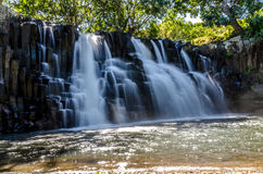 Rochester Falls in Mauritius stock image