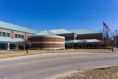 Rochester Hills Public Library exterior, Rochester, Michigan royalty free stock photography