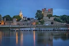 Rochester historique au crépuscule image libre de droits