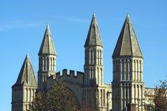 Rochester Katedralni szczegóły, Anglia Zdjęcie Royalty Free