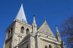 Rochester-Kathedrale in Kent Stockbilder