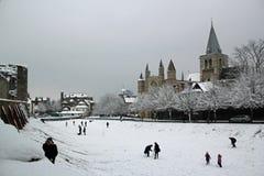 Rochester Kent i vinter Arkivbilder