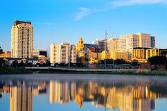 Rochester, Minnesota. Quite morning in Rochester, Minnesota with the view on the famous Mayo Clinic Royalty Free Stock Image