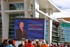 Trump political rally in Rochester, MN stock photos